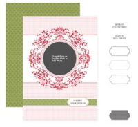 Merry medallion photocard template