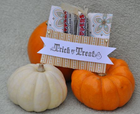 Simple treat pouch with designer series paper