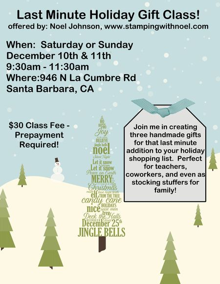 Xmas Gift Class Flyer
