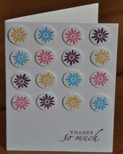 Baroque Motifs Repetition Thank You Card