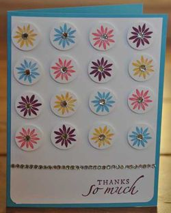 Baroque Motifs Repetition Thank You Card Up A Notch