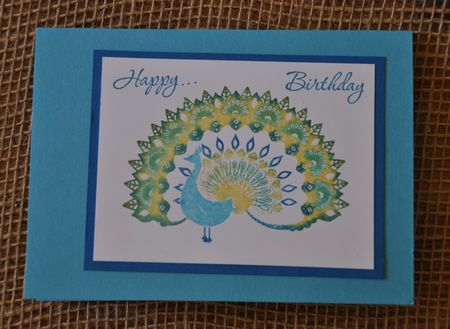 World Treasures Peacock Birthday Card