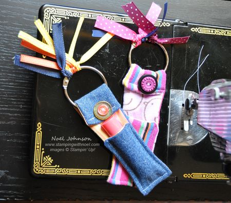 Upcycled Chapstick Holder Key Fobs