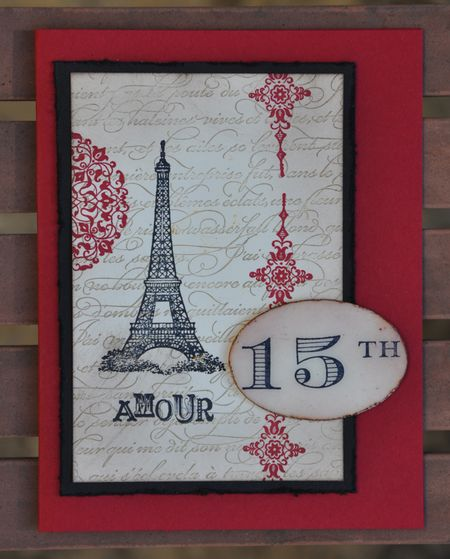 Artistic Etchings Stamped Collage Anniversary Card