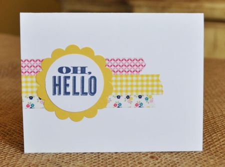 Oh Hello Gingham Garden Designer Washi Tape Card