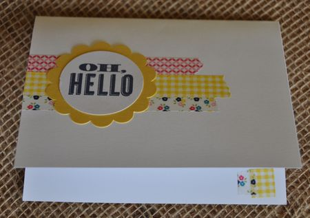 Inside Oh Hello Gingham Garden Designer Washi Tape Card