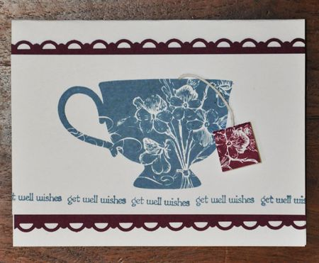 Tea Shoppe with tag Get Well Card