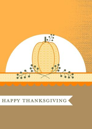 Thanksgiving Digital Punch Art Card