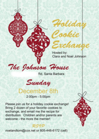 2013 MDS Cookie Exchange Invitation