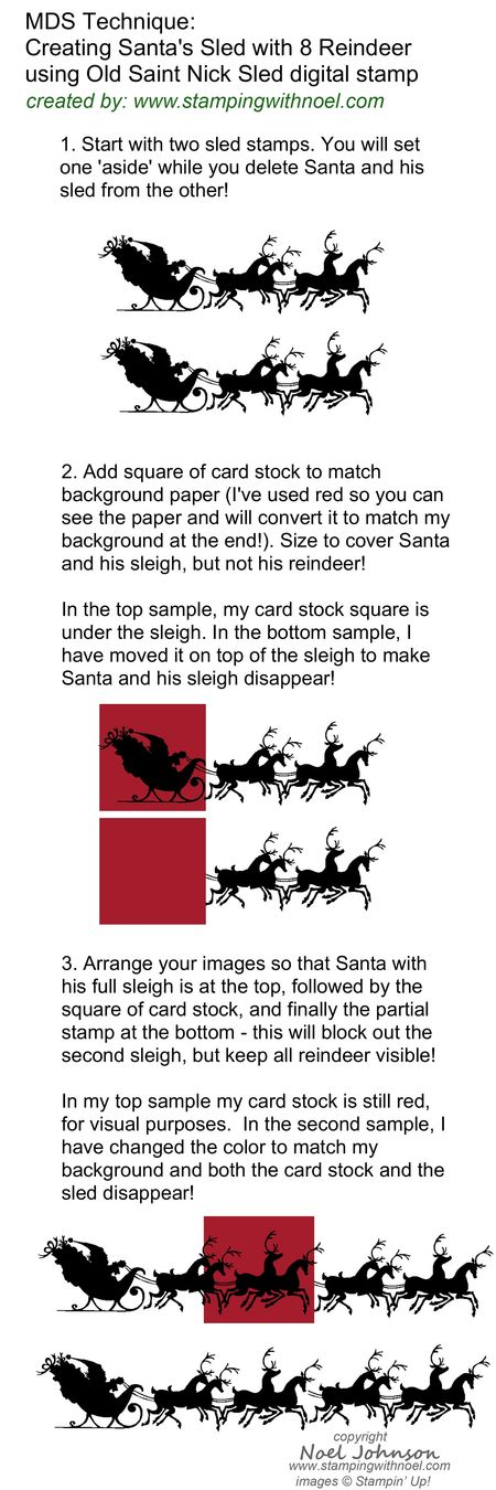 MDS Technique Altering Santa Stamp