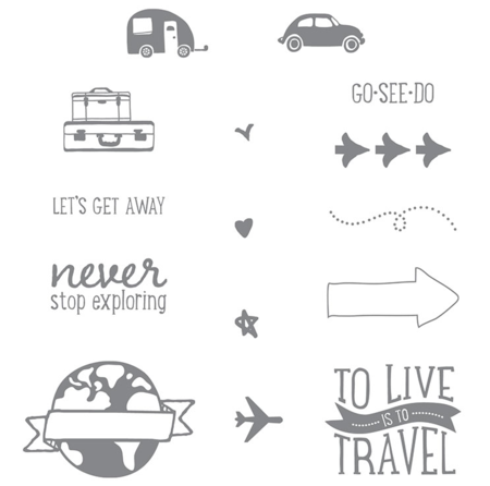 Project Life Let's Get Away Stamp Set