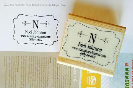 Decorative Label Monogram Personalized Stamp