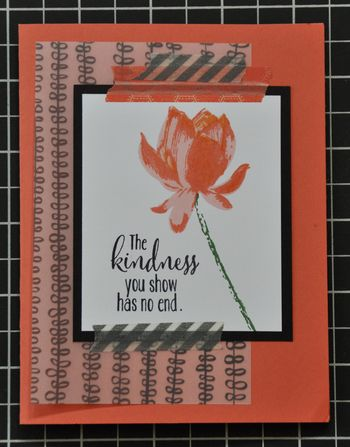 5 Minute Lotus Flower Card
