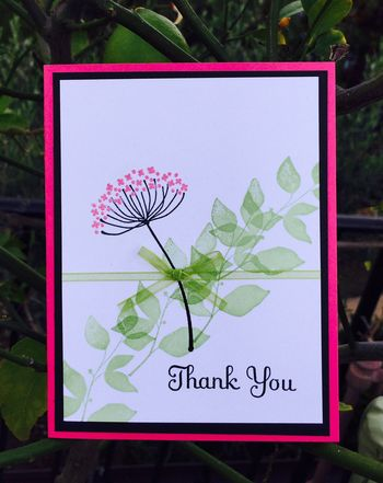 Summer Silhouettes Thank You Card