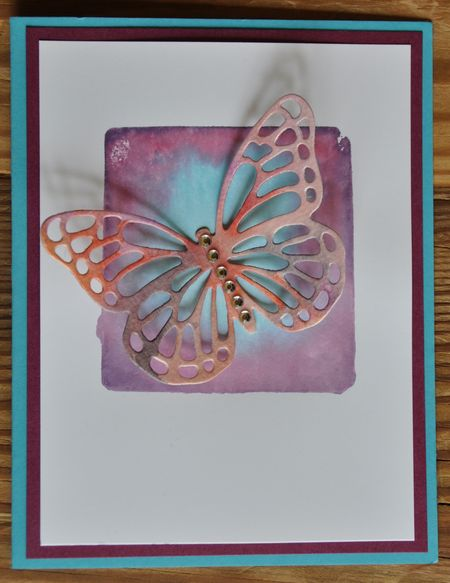 Butterflies Thinlits Dies and Watercolor Card